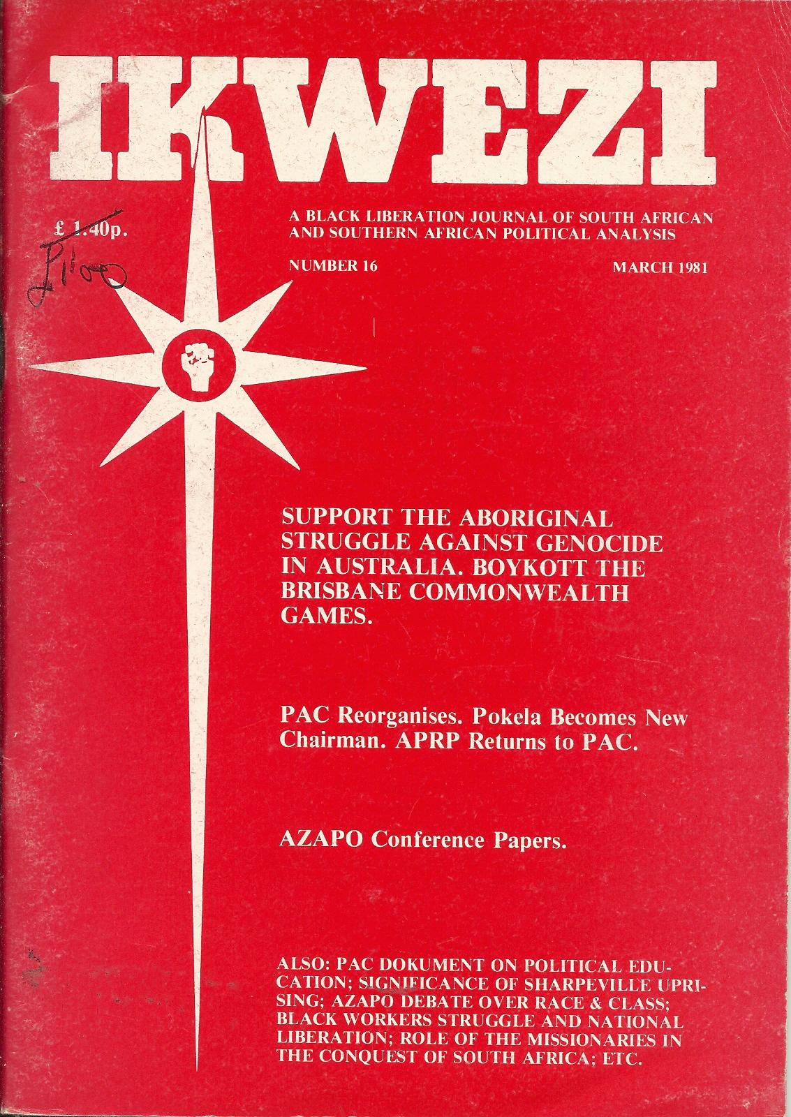 ikwezi  16 March 1981