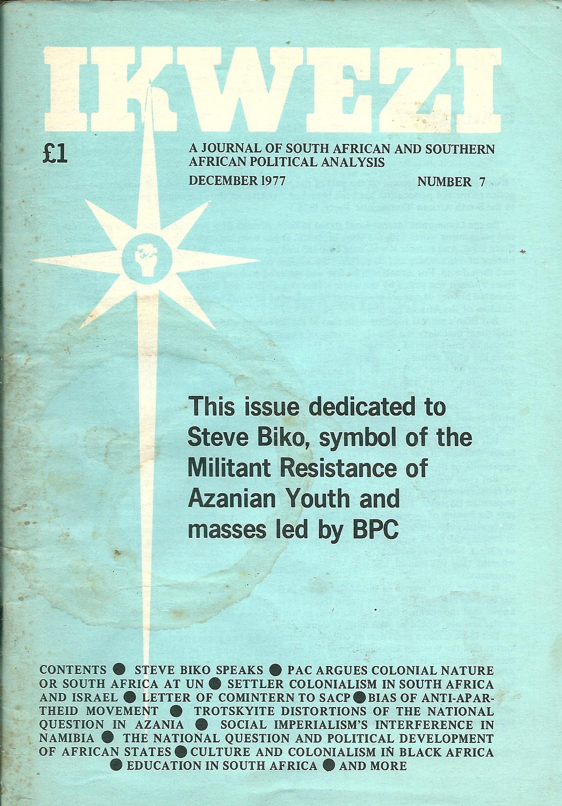 ikwezi  7 December 1977