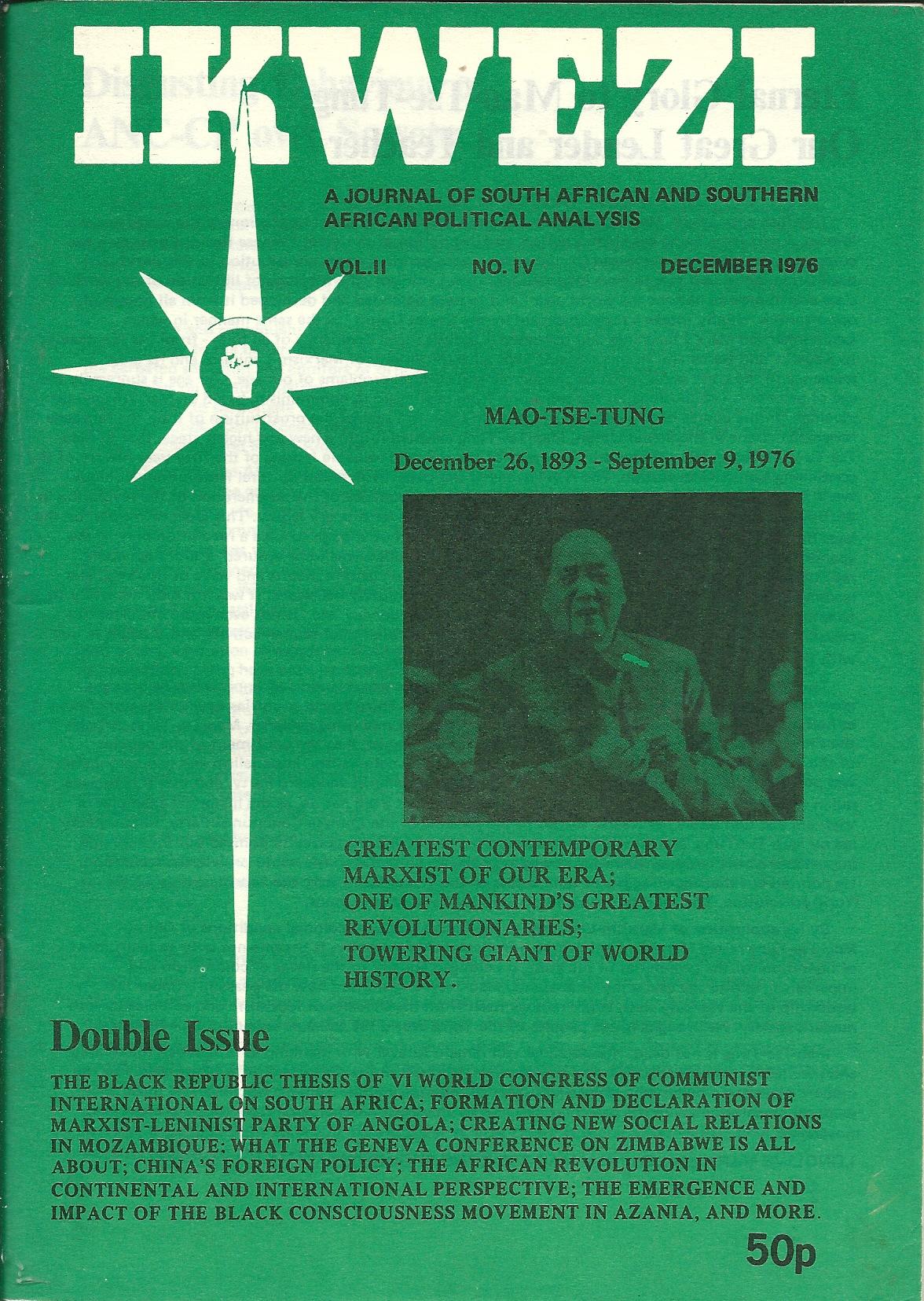 ikwezi  Vol 2 No.4 December 1976