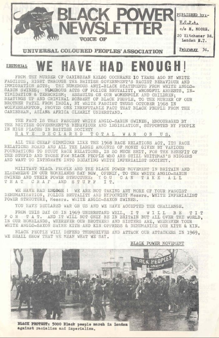 1969 Black power newsletter