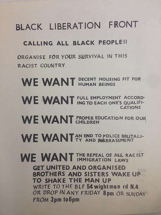 BLF leaflet