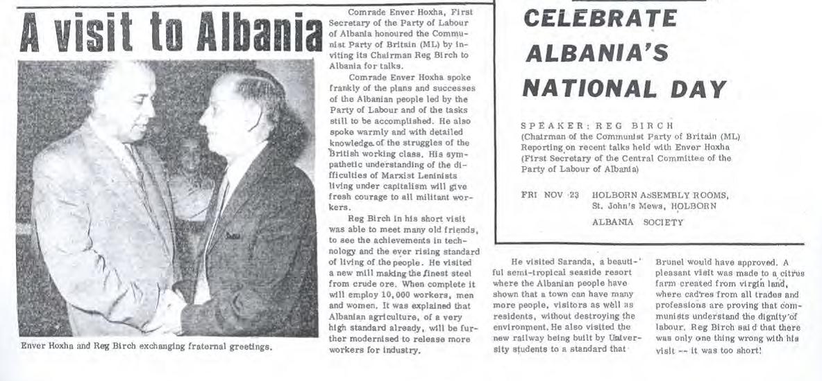 1973 visit to albania