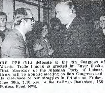 June 1972 The Worker pictures Enver and Ted Roycraft.