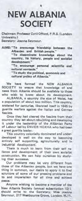 New Albania society