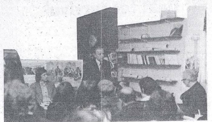 1976 Reg at Belham Books speaking