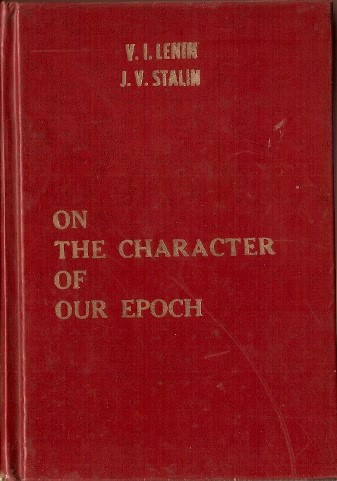 on the character of our epoch