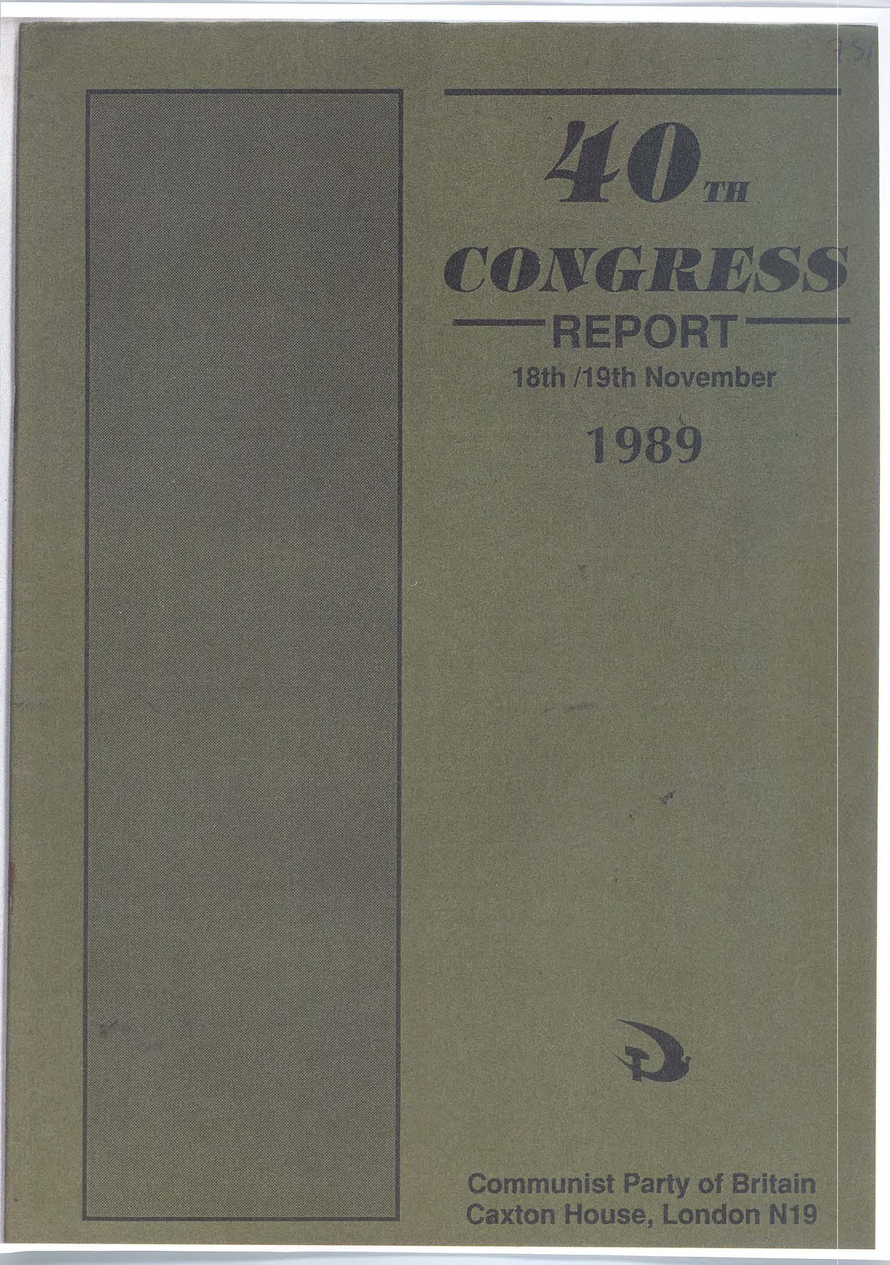 1989 40th congress