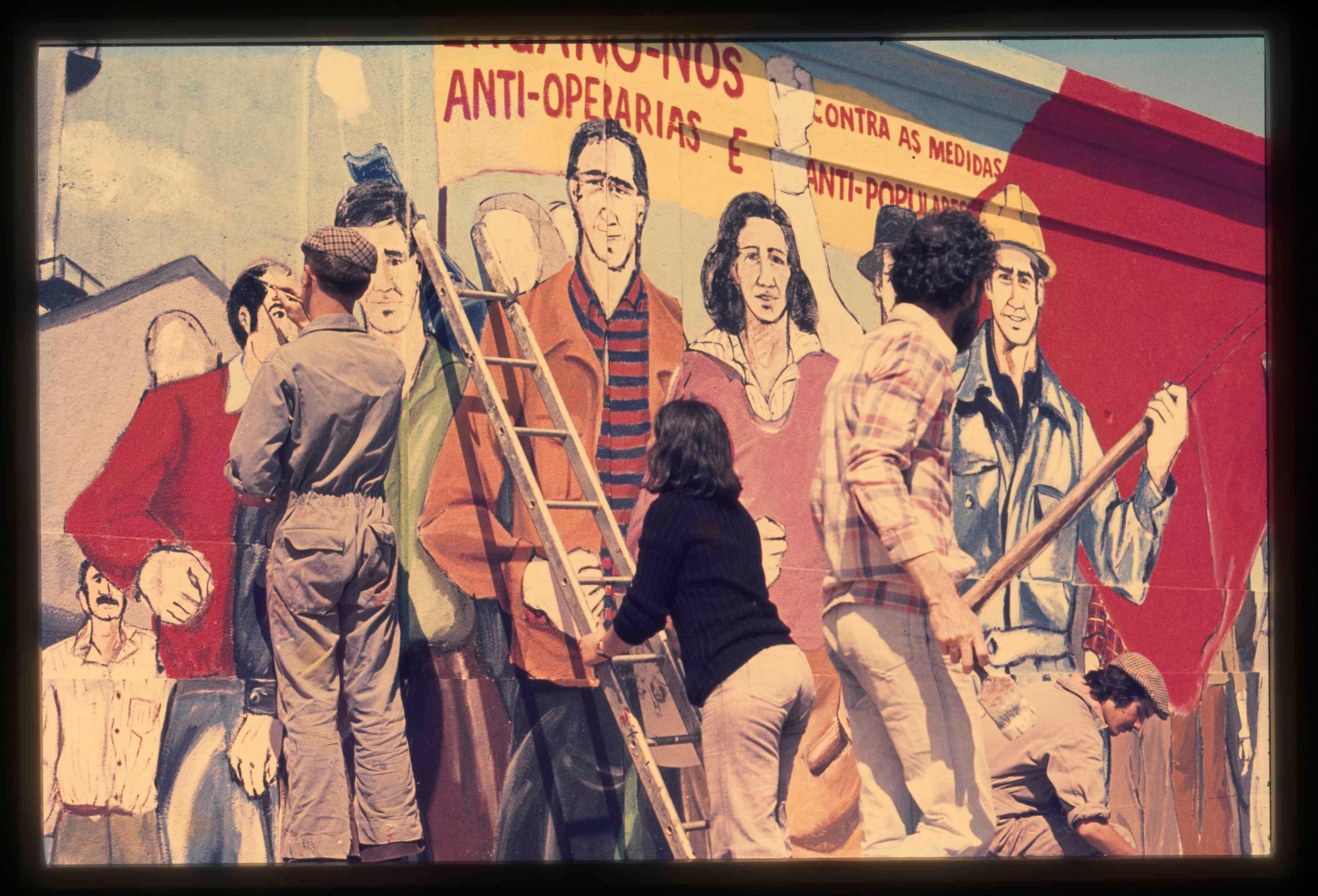 May 1st commemorative mural in Alcântara Mar