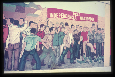 Mural at the Higher Technical Institute of General Ramalho Eanes' campaign for the presidential elections 1976