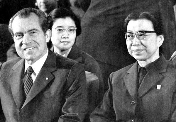 Nixon and Jiang Qing during his visit to China in 1972.